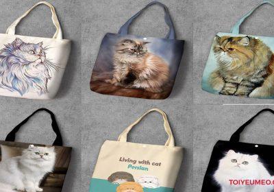 Túi vải hình mèo